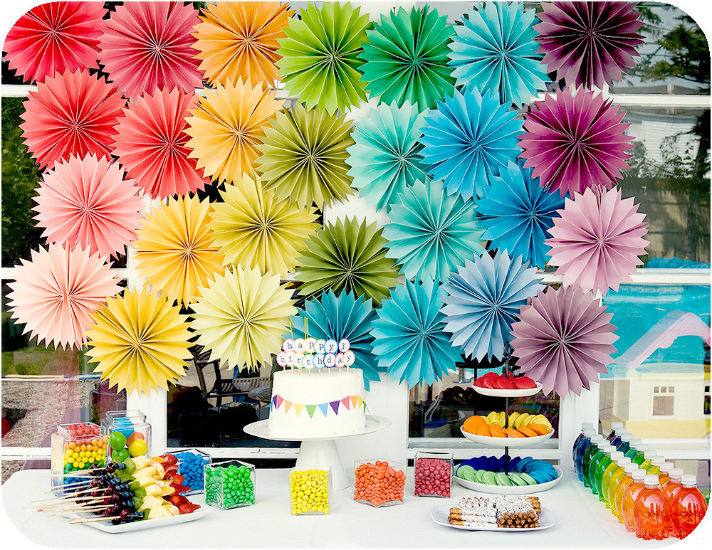 Best ideas about Rainbow Birthday Decorations . Save or Pin jacieland rainbow birthday parties Now.