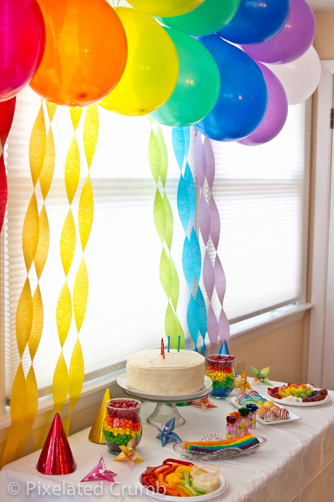 Best ideas about Rainbow Birthday Decorations . Save or Pin Creative Food Rainbow Party Now.