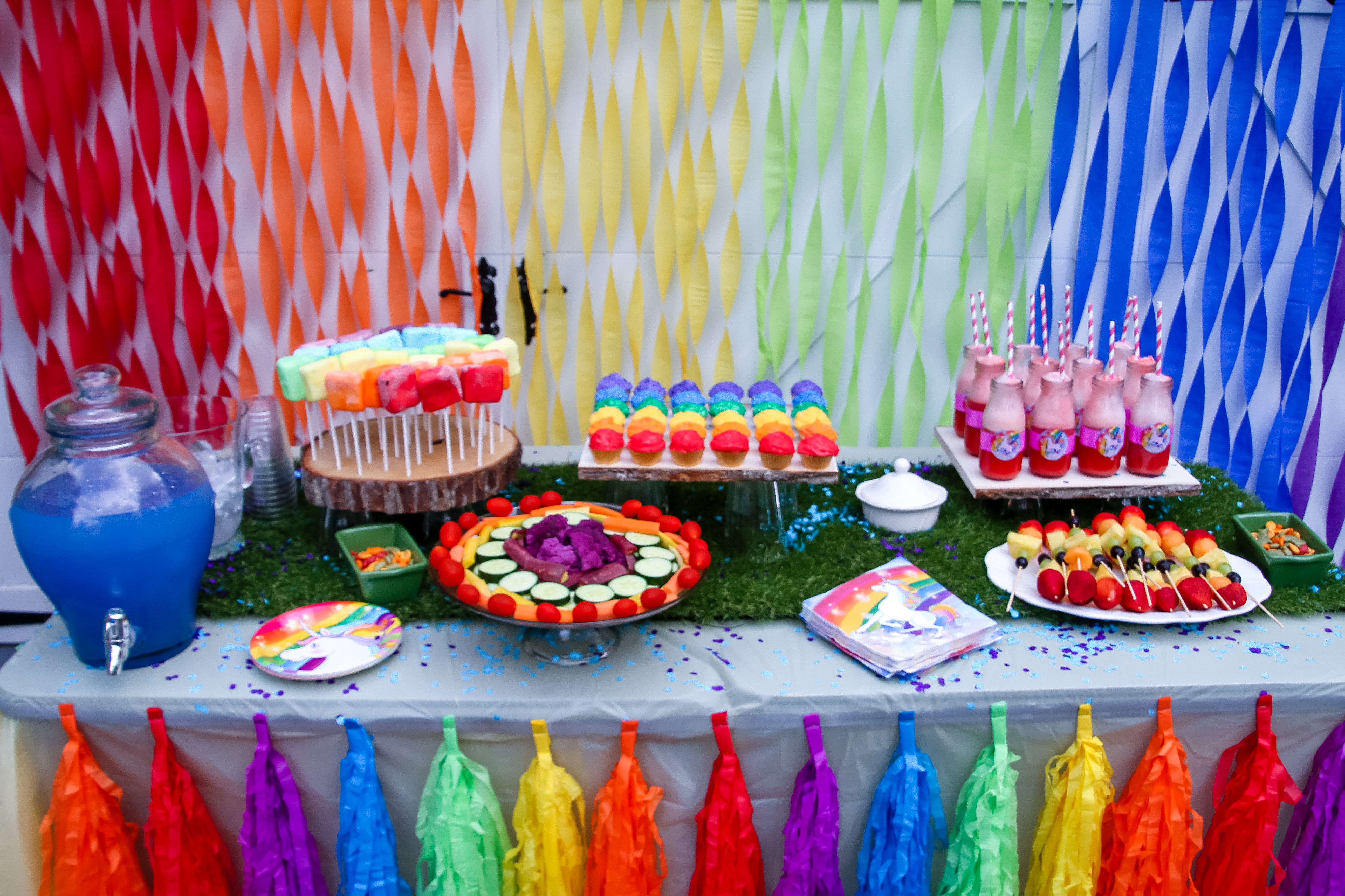 Best ideas about Rainbow Birthday Decorations . Save or Pin Unicorn Rainbow birthday Party Now.