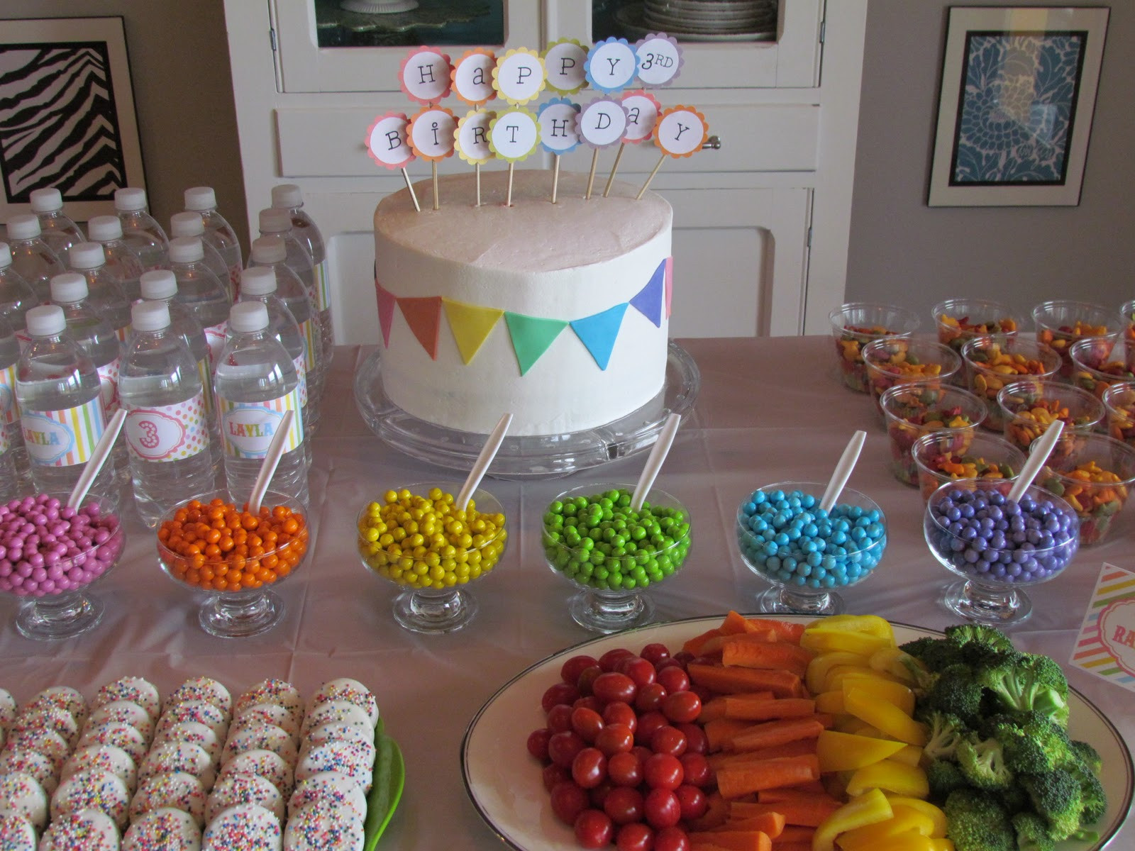 Best ideas about Rainbow Birthday Decorations . Save or Pin Little Bean Workshop Rainbow Party Now.