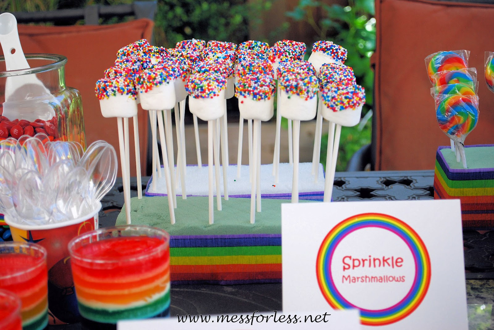 Best ideas about Rainbow Birthday Decorations . Save or Pin DIY Rainbow Party Ideas Mess for Less Now.