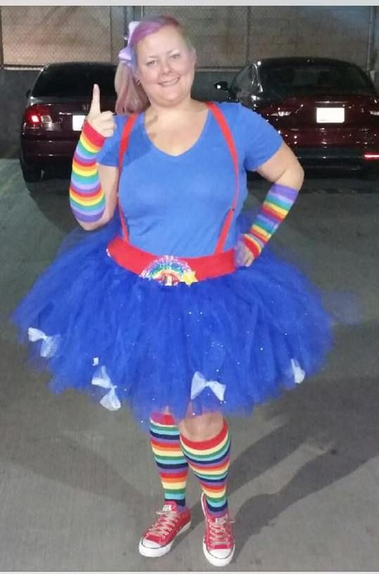 Best ideas about Rainbow Brite Costume DIY . Save or Pin Adult Rainbow Brite Tutu Costume I made for an 80 s Party Now.