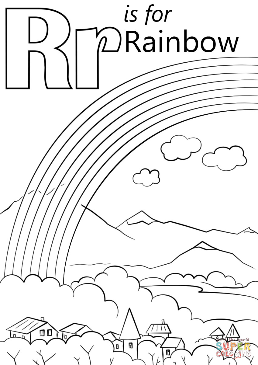 Best ideas about Rainbow Preschool Coloring Sheets . Save or Pin Letter R is for Rainbow coloring page Now.