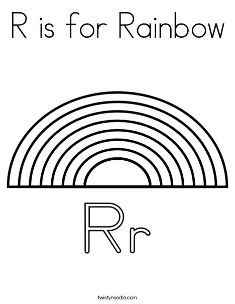 Best ideas about Rainbow Preschool Coloring Sheets . Save or Pin R is for Rainbow Coloring Page Twisty Noodle Now.