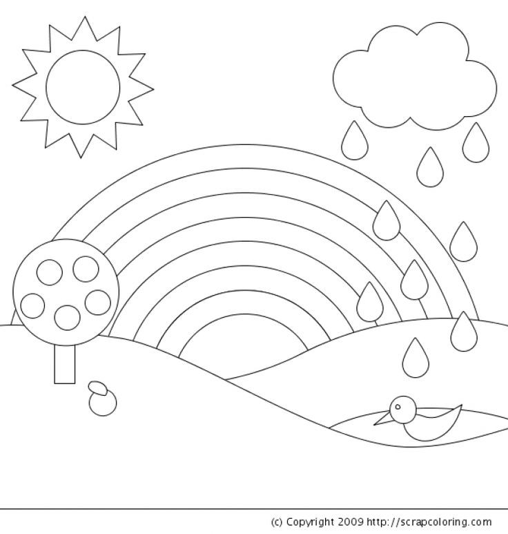 Best ideas about Rainbow Preschool Coloring Sheets . Save or Pin 623 best images about Fun Coloring Pages on Pinterest Now.