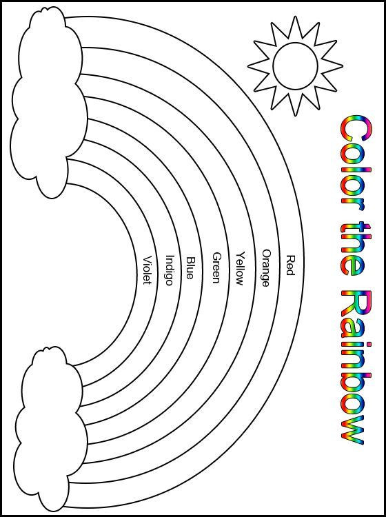 Best ideas about Rainbow Preschool Coloring Sheets . Save or Pin Customize Your Free Printable Color the Rainbow Now.