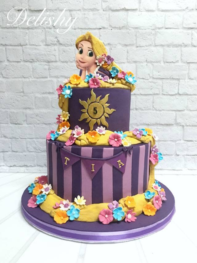 Best ideas about Rapunzel Birthday Cake . Save or Pin Rapunzel cake cake by Zahraa CakesDecor Now.