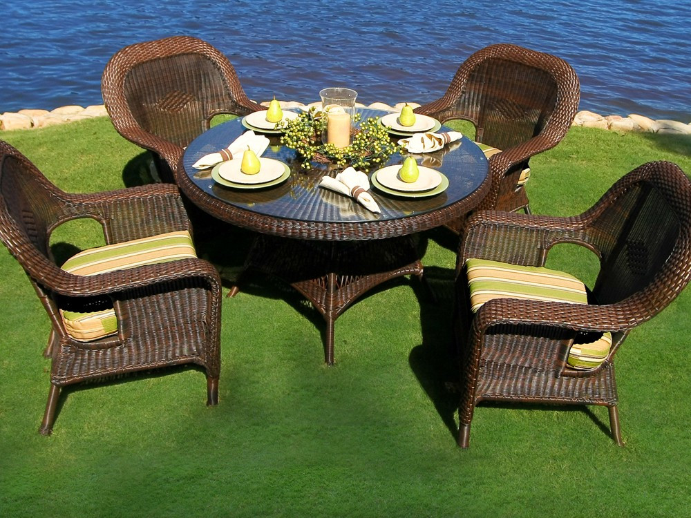 Best ideas about Rattan Dining Set . Save or Pin Tortuga Outdoor Lexington Wicker 5 Piece Dining Set Now.