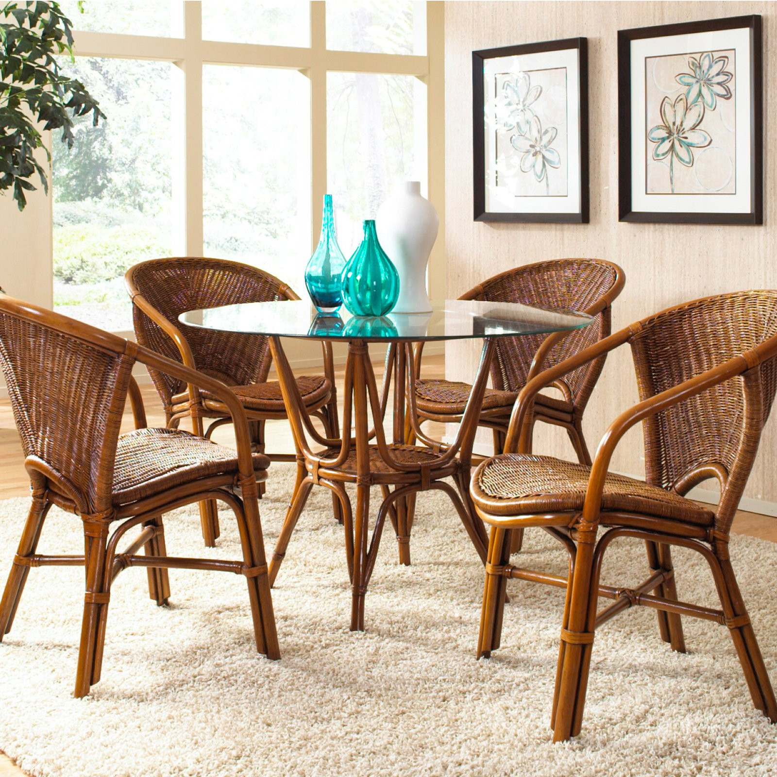 Best ideas about Rattan Dining Set . Save or Pin Hospitality Rattan Greece Indoor 5 Piece Rattan & Wicker Now.