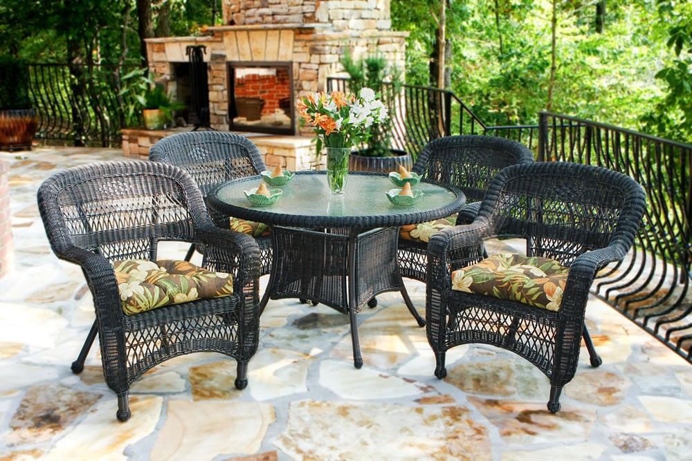 Best ideas about Rattan Dining Set . Save or Pin Tortuga Outdoor Portside 5 Piece Wicker Dining Set Now.