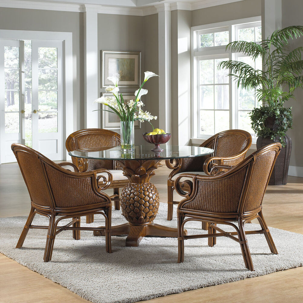 Best ideas about Rattan Dining Set . Save or Pin SUNSET REEF 5 PIECE DINING SET PINEAPPLE TABLE & 4 CLUB Now.