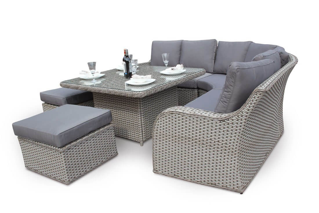 Best ideas about Rattan Dining Set . Save or Pin Nottingham Corner Sofa Dining Outdoor Rattan Set Natural Now.