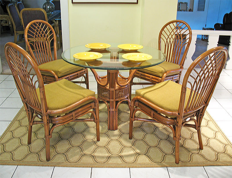 "Best ideas about Rattan Dining Set . Save or Pin Savannah 42"" Round Natural Rattan Dining Sets Now."