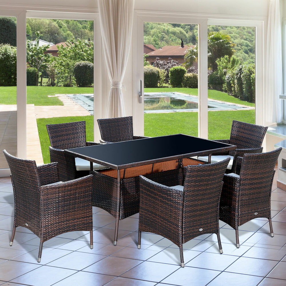 Best ideas about Rattan Dining Set . Save or Pin Outdoor Garden Rattan Furniture Cube Dining Set Now.
