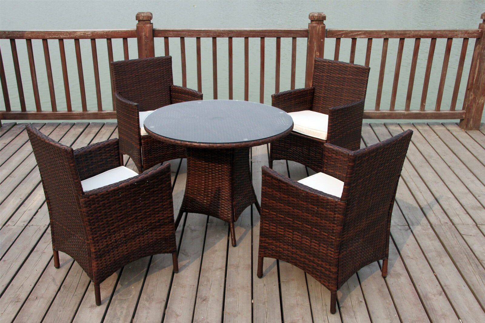 Best ideas about Rattan Dining Set . Save or Pin BISTRO GARDEN RATTAN WICKER OUTDOOR DINING FURNITURE SET Now.