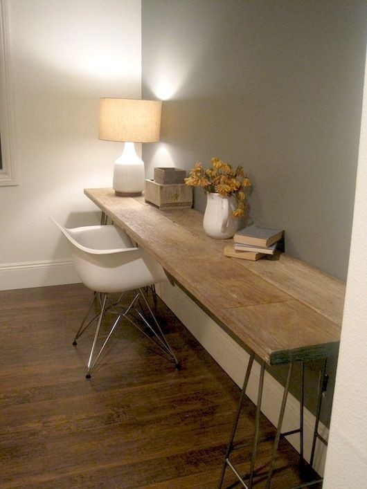 Best ideas about Reclaimed Wood Desk DIY . Save or Pin 25 Best Ideas about Long Desk on Pinterest Now.