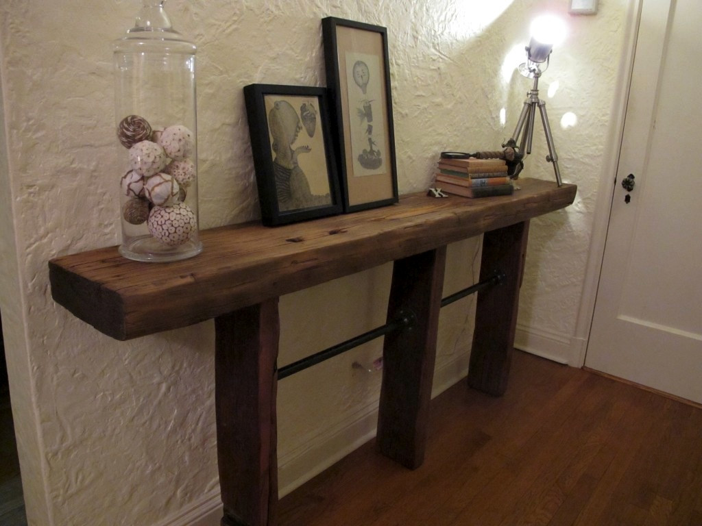 Best ideas about Reclaimed Wood Desk DIY . Save or Pin Reclaimed Wood and Pipe Table Now.