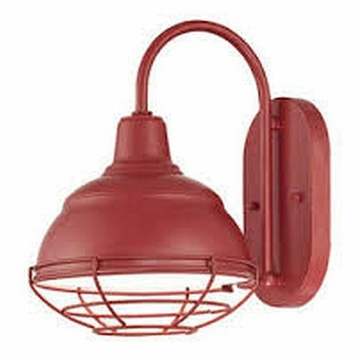 """Best ideas about Red Porch Lights . Save or Pin RED OUTDOOR LIGHT FIXTURE 8"""" Wide Exterior Farmhouse Wall Now."""