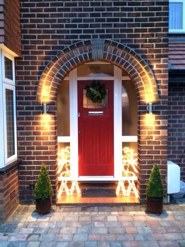 Best ideas about Red Porch Lights . Save or Pin Red 1930 s posite Front Door Now.