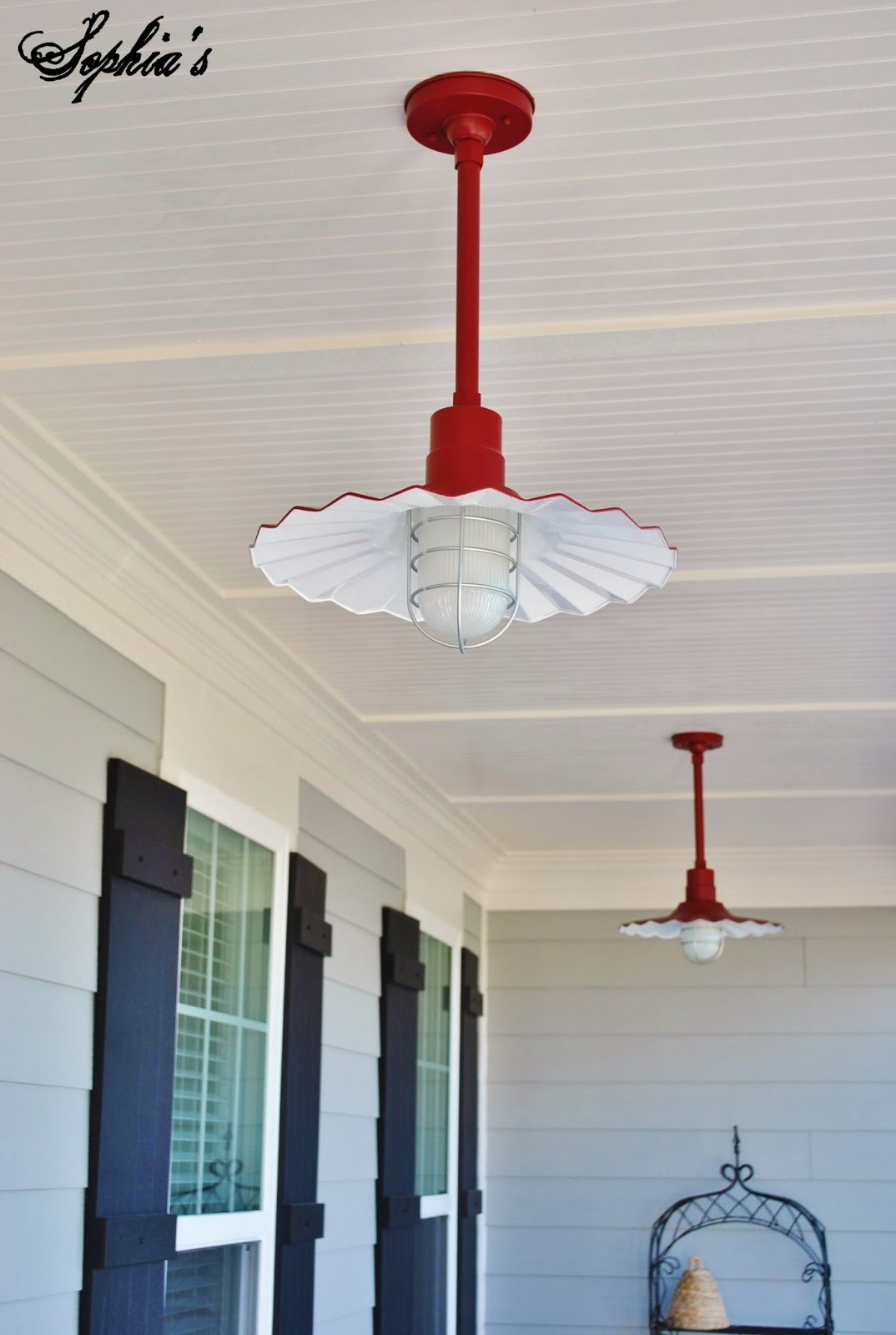 Best ideas about Red Porch Lights . Save or Pin Sophia s Snippets of the New House Now.