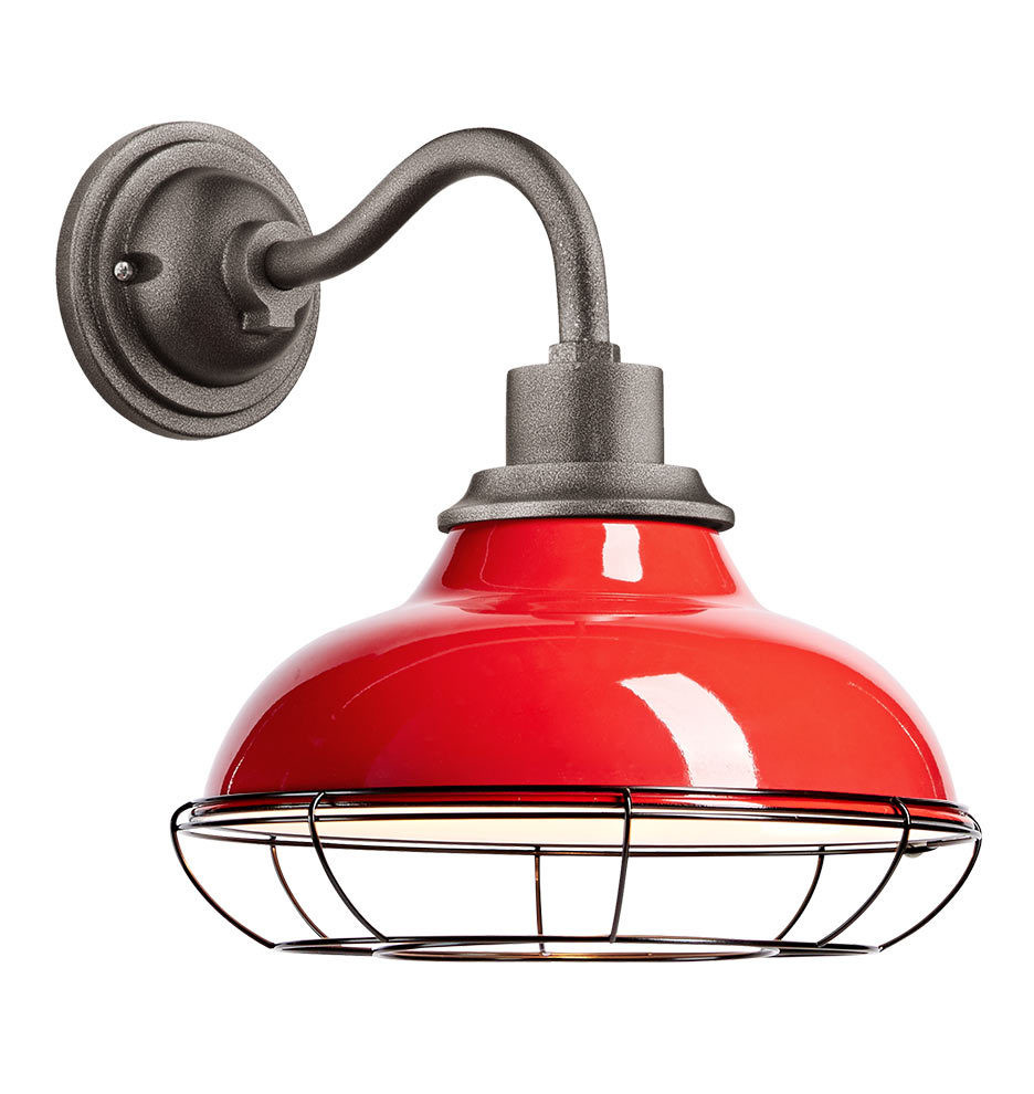 """Best ideas about Red Porch Lights . Save or Pin Carson 12"""" Wall Sconce with Cage Tomato Red Now."""