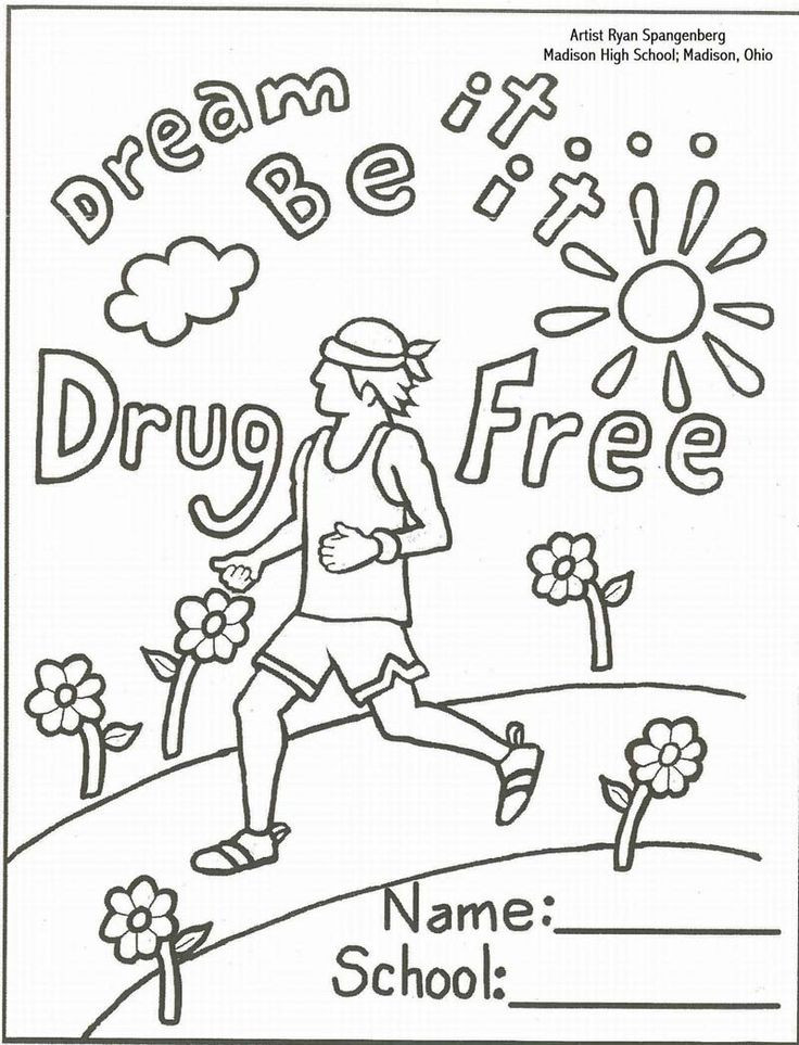 Best ideas about Red Ribbon Week Coloring Pages For Kids . Save or Pin Free Red Ribbon Week Coloring Pages Coloring Home Now.