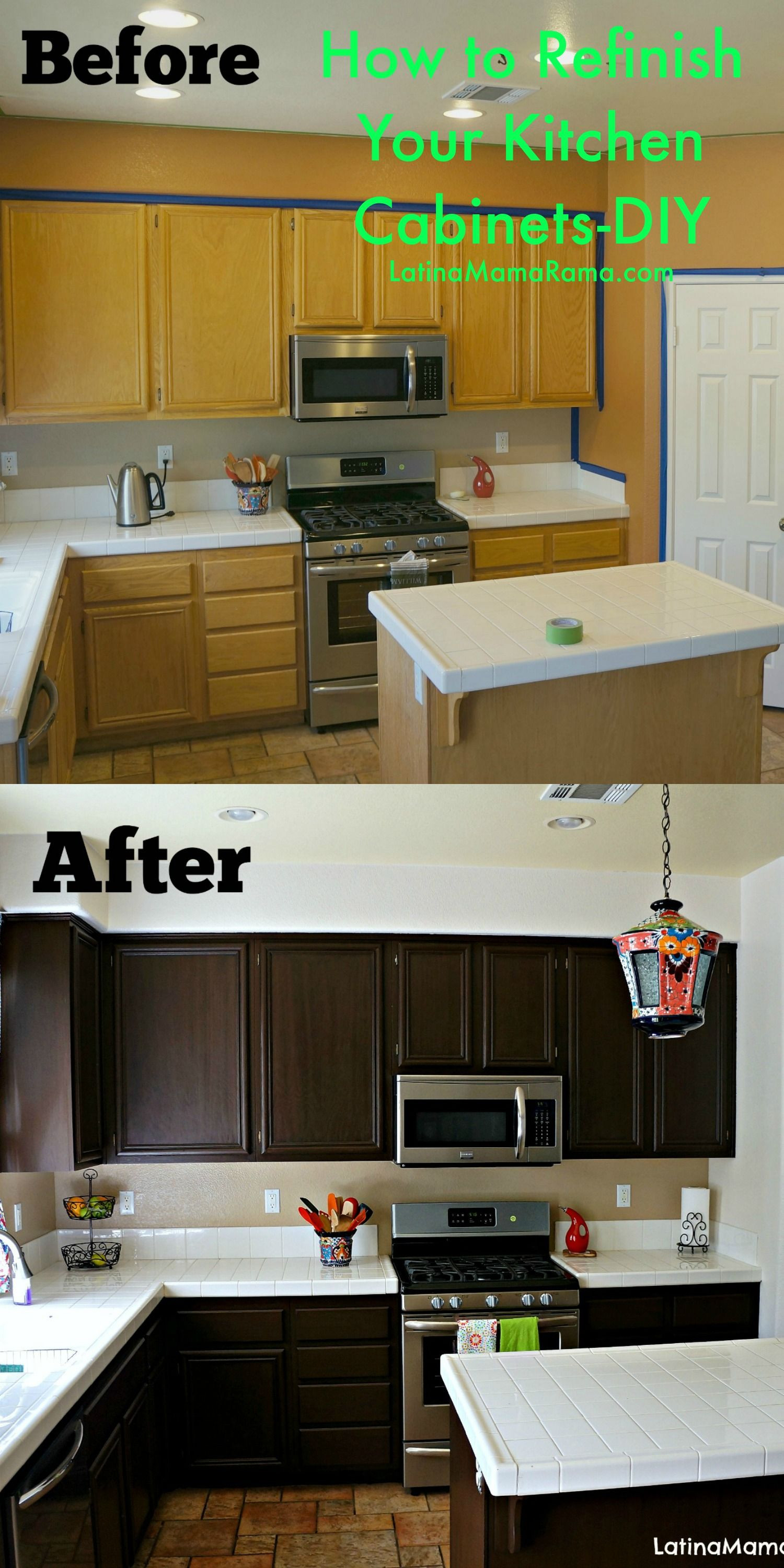 Best ideas about Refinishing Cabinets DIY . Save or Pin Refinish Kitchen Cabinets on Pinterest Now.