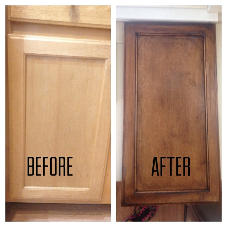 Best ideas about Refinishing Cabinets DIY . Save or Pin Refinishing my builder grade kitchen cabinets diy Now.