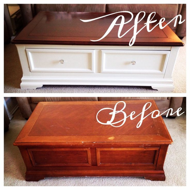 Best ideas about Refinishing Coffee Table Ideas . Save or Pin 25 Best Ideas of Refinish Coffee Table Top Now.