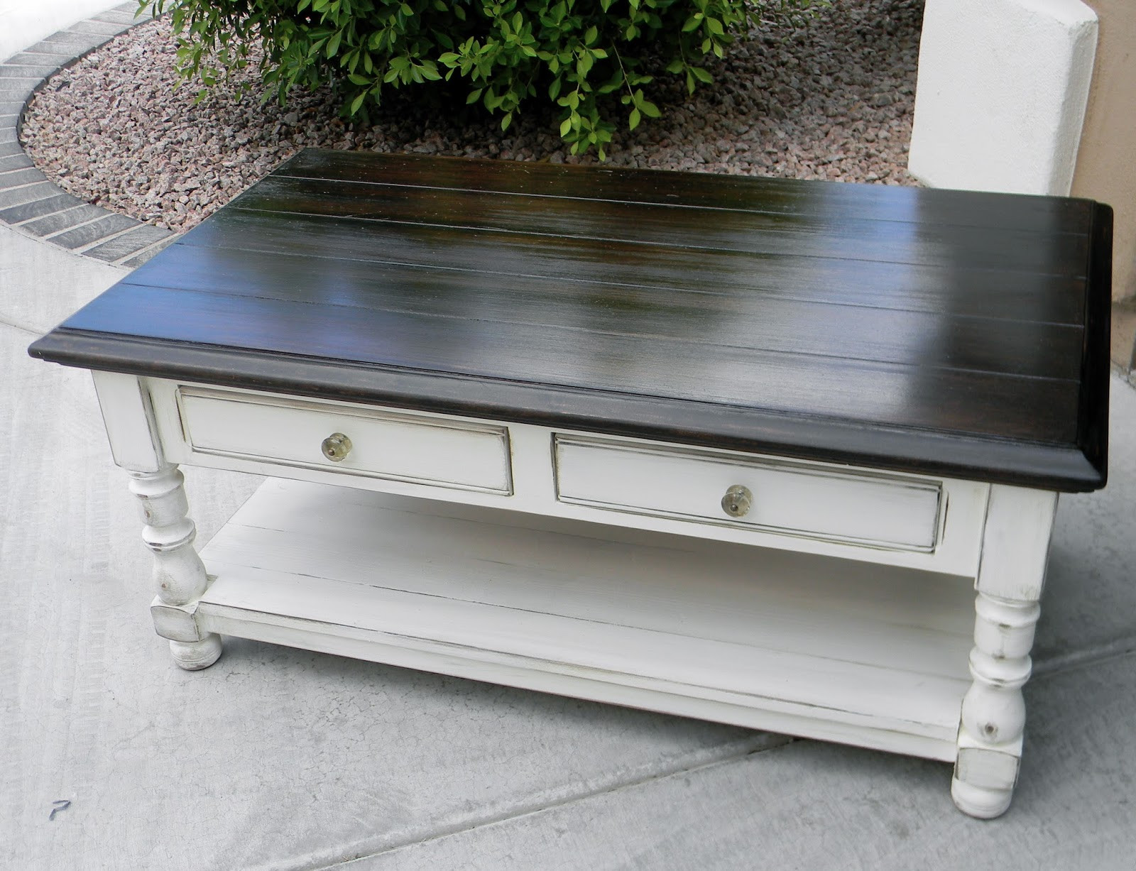 Best ideas about Refinishing Coffee Table Ideas . Save or Pin Little Bit of Paint Refinished Coffee Table Now.