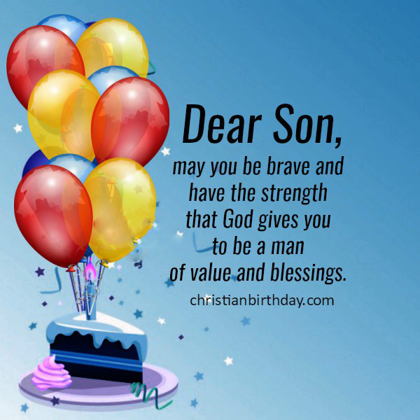 Best ideas about Religious Birthday Wish For Son . Save or Pin 50 Birthday Wishes for Son 2019 [Happy Birthday Son] Now.