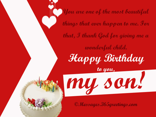 Best ideas about Religious Birthday Wish For Son . Save or Pin Birthday Wishes for Son 365greetings Now.