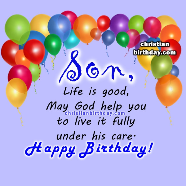 Best ideas about Religious Birthday Wish For Son . Save or Pin Spiritual Birthday Quotes for a son Now.