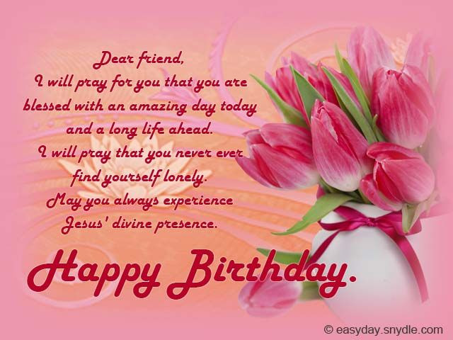 Best ideas about Religious Birthday Wishes For A Friend . Save or Pin Christian Birthday Wishes Now.