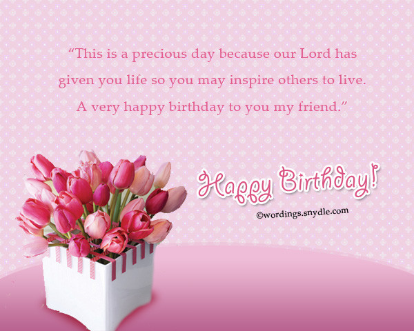 Best ideas about Religious Birthday Wishes For A Friend . Save or Pin Christian Birthday Wordings and Messages Wordings and Now.