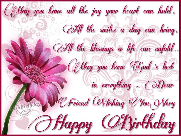 Best ideas about Religious Birthday Wishes For A Friend . Save or Pin Happy Birthday Wishes Now.