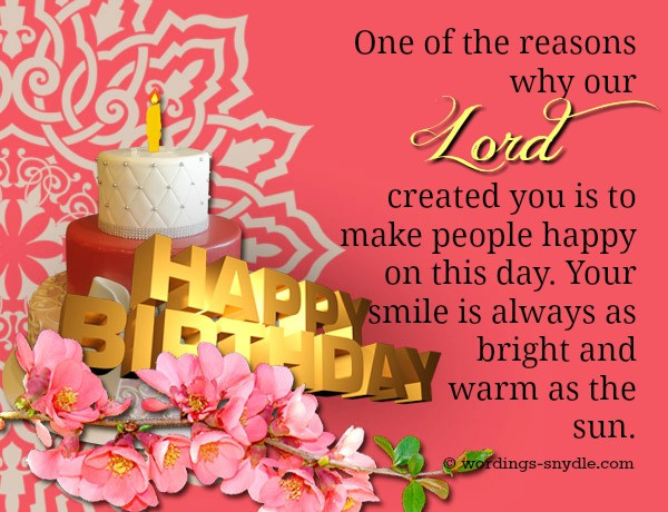 Best ideas about Religious Birthday Wishes . Save or Pin Christian Birthday Wordings and Messages Wordings and Now.