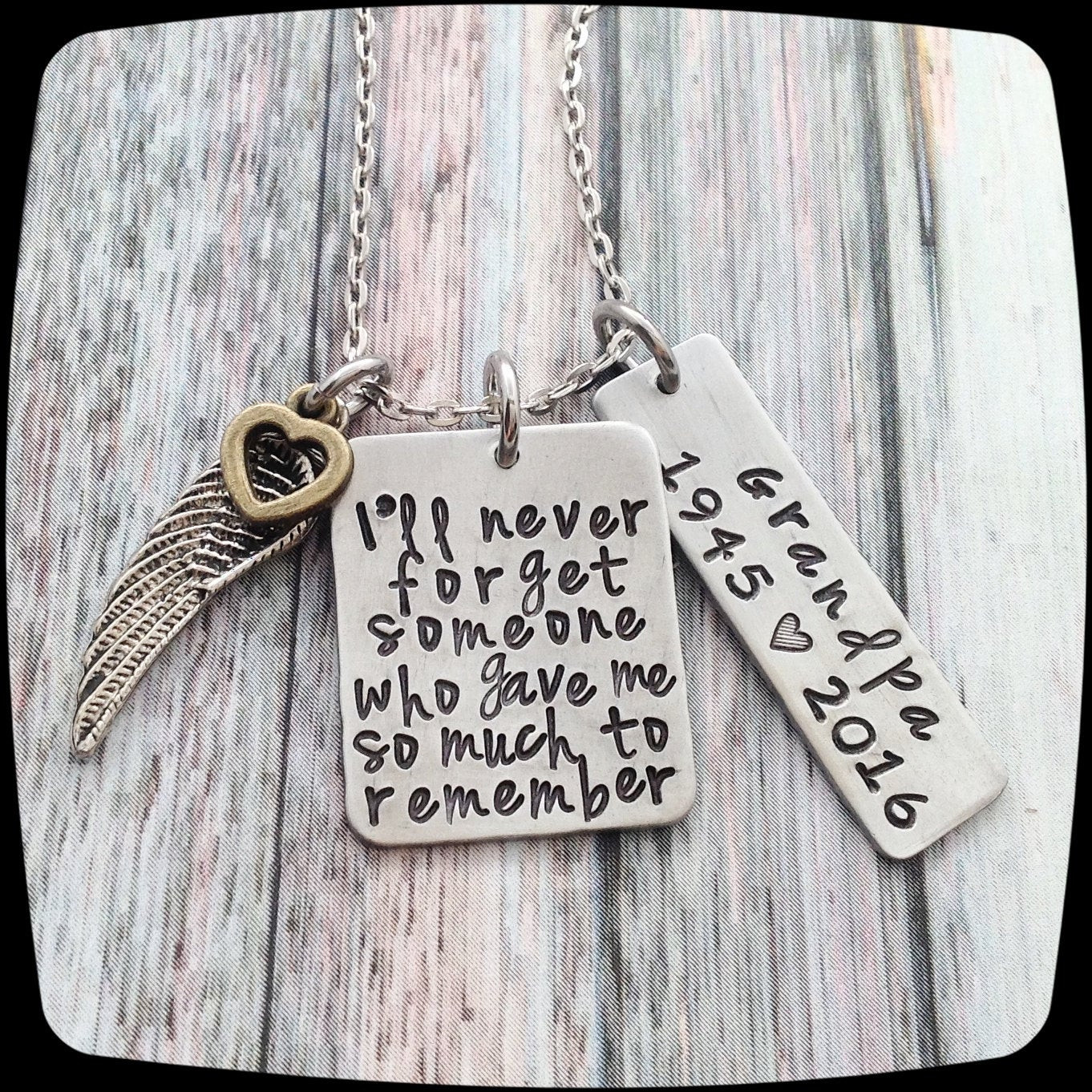 Best ideas about Remembrance Gift Ideas . Save or Pin Memorial Gift Remembrance Necklace Loss of dad by Now.