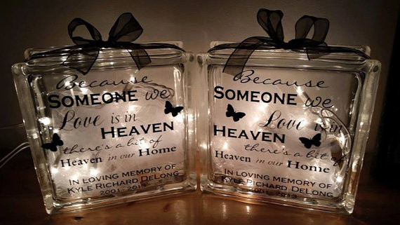 Best ideas about Remembrance Gift Ideas . Save or Pin Memorial Glass Blocks sympathy t Personalized glass Now.