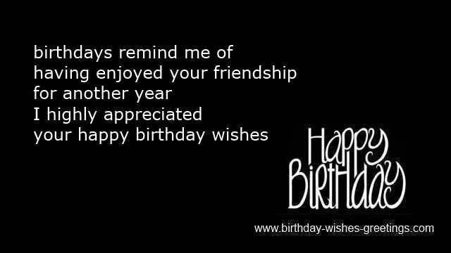 Best ideas about Reply To Birthday Wish . Save or Pin Birthday wish response Now.