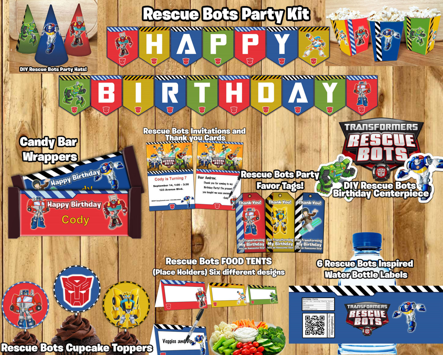 Best ideas about Rescue Bots Birthday Party . Save or Pin Rescue Bots Birthday Party Kit Download Banner by Now.