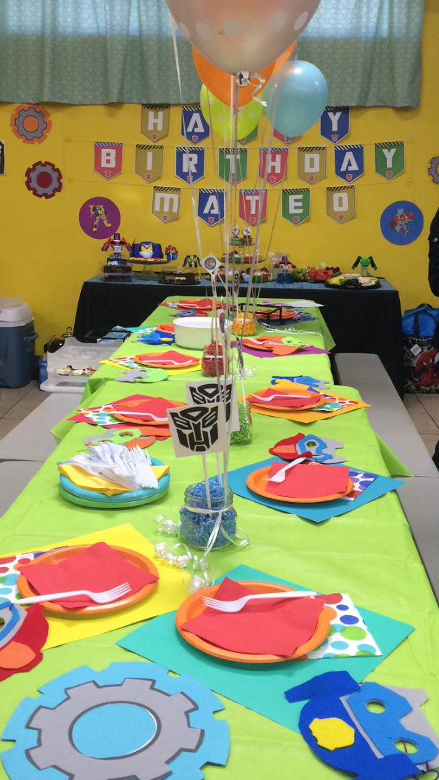 Best ideas about Rescue Bots Birthday Party . Save or Pin Transformer Rescue Bots Birthday party Banner is from Etsy Now.