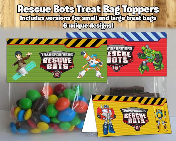 Best ideas about Rescue Bots Birthday Party . Save or Pin Rescue Bots Inspired Treat Bag Toppers Rescue Bots by Now.