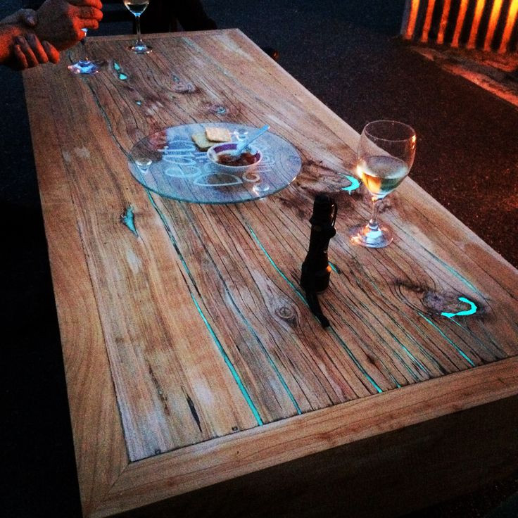 Best ideas about Resin Table DIY . Save or Pin macrocarpa timber slab coffee table with glow in the dark Now.