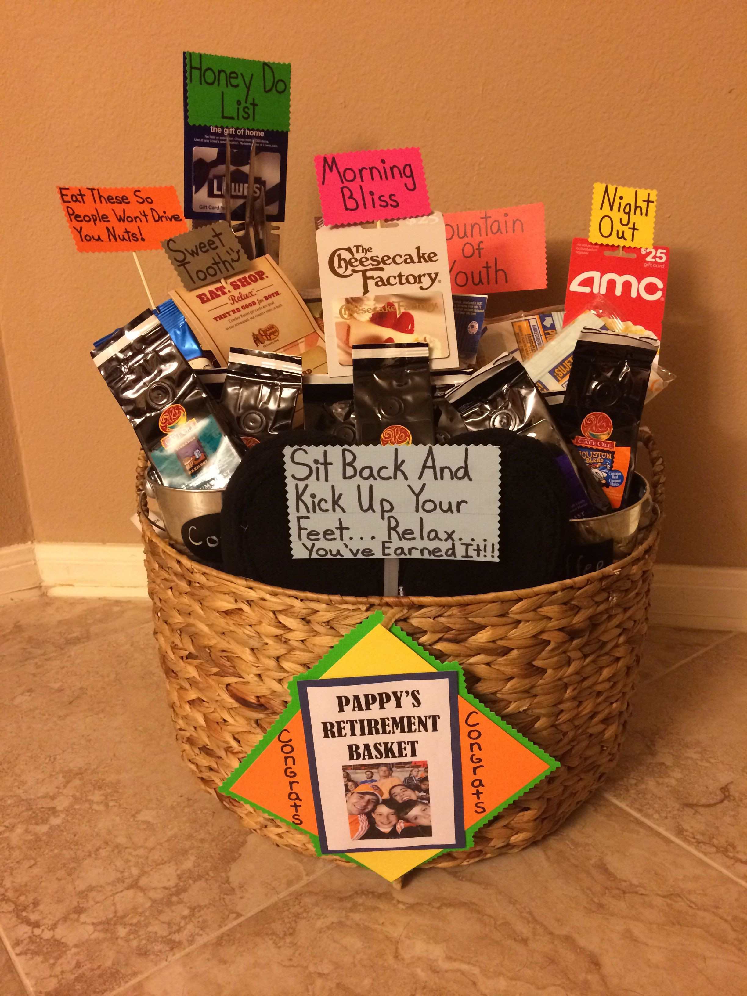 Best ideas about Retirement Gift Ideas . Save or Pin Retirement t basket great ideas Now.