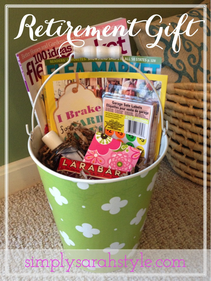 Best ideas about Retirement Gift Ideas . Save or Pin Customizing a Retirement Gift Simply Sarah Style Now.