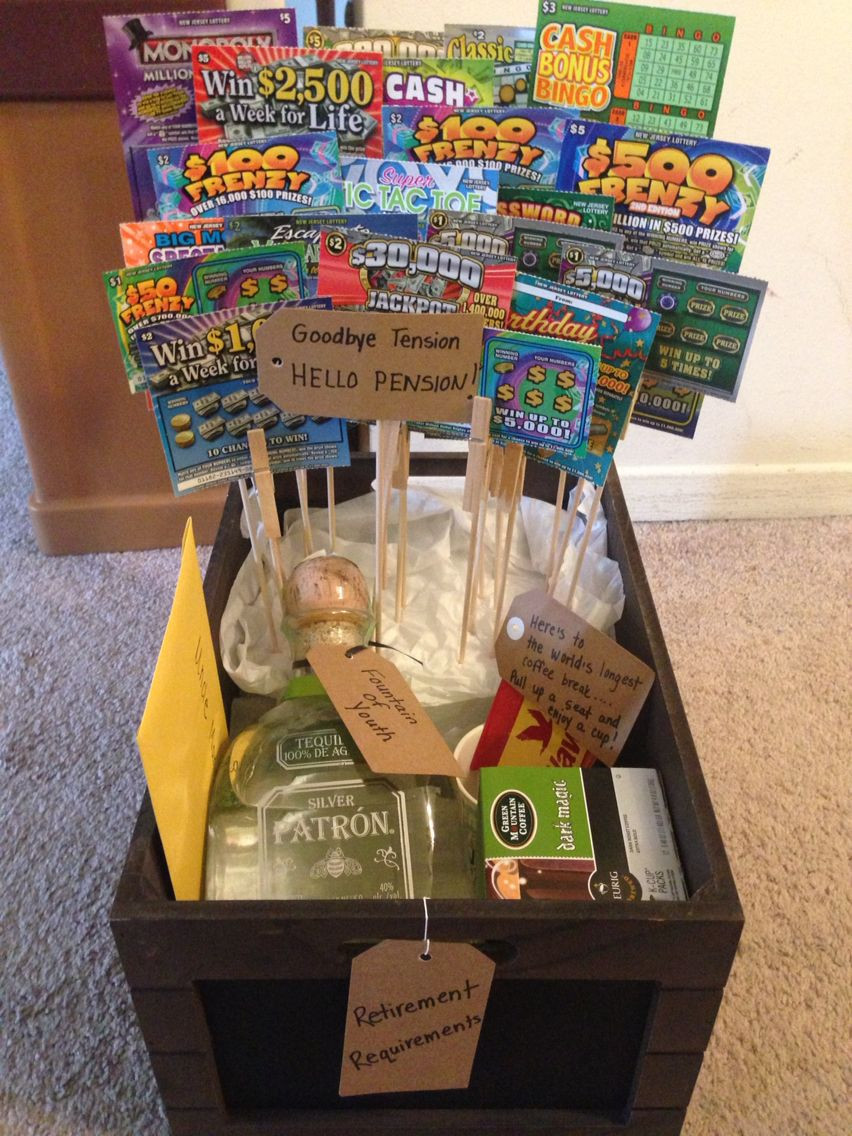 Best ideas about Retirement Gift Ideas . Save or Pin Retirement Gift basket DIY Crafts Gifts Now.