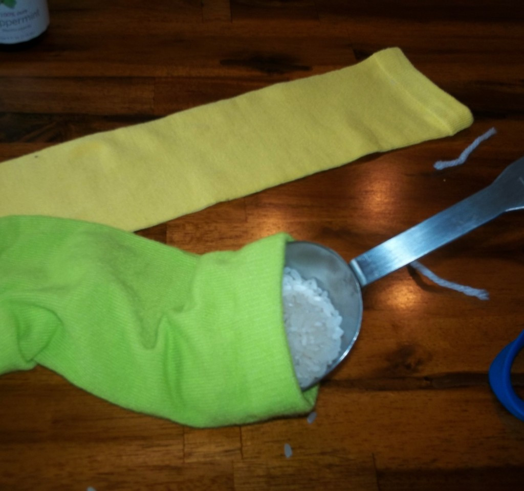 Best ideas about Rice Heating Pad DIY . Save or Pin Easy DIY No Sew Rice Heating Pad sports cooling pad Now.
