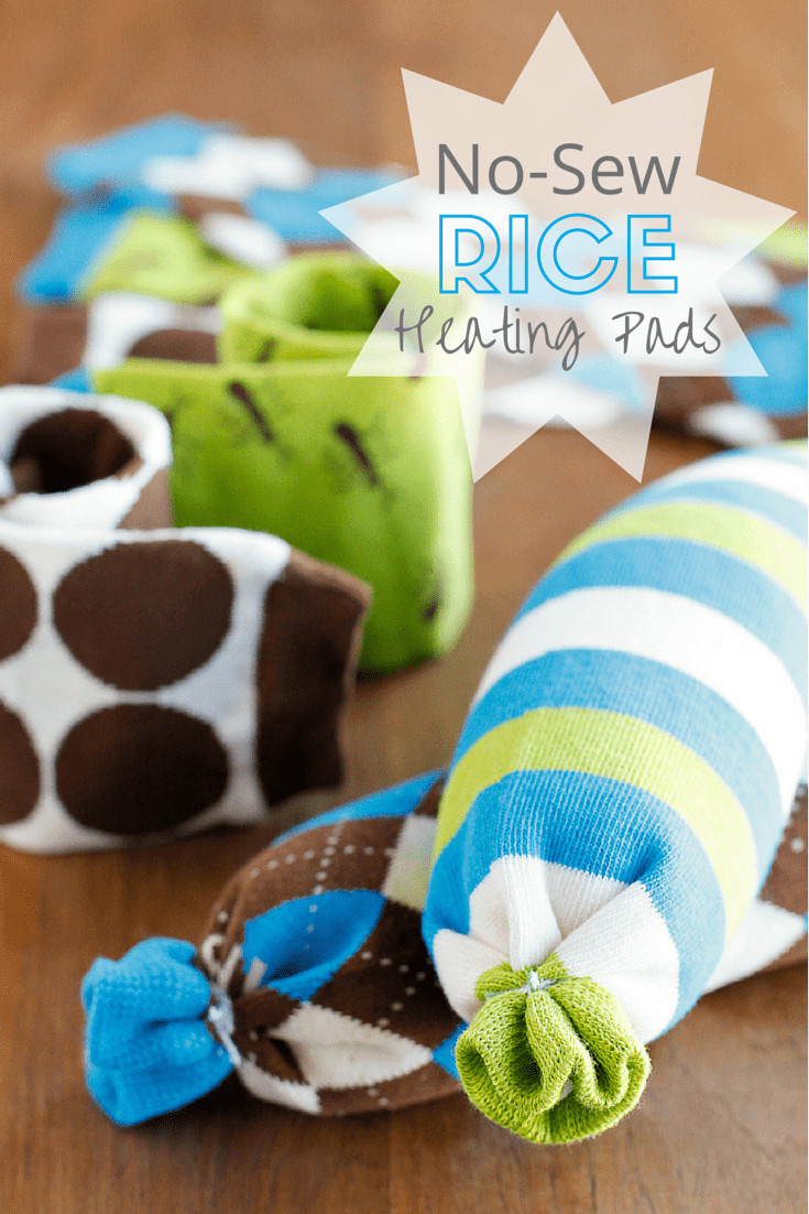 Best ideas about Rice Heating Pad DIY . Save or Pin No Sew Microwavable Rice Heating Pad Now.