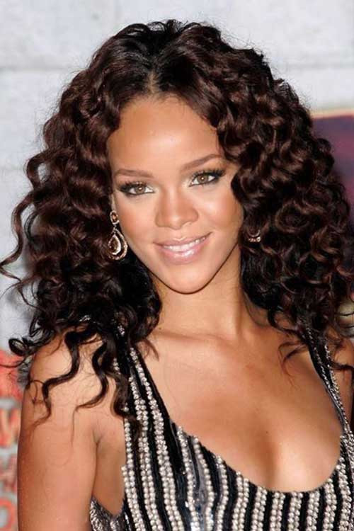 Best ideas about Rihanna Curly Hairstyles . Save or Pin 15 Rihanna Long Curly Hair Now.